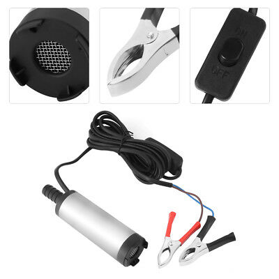 12V Stainless steel Submersible Pump 38mm Water Oil Diesel Fuel Transfer High Q