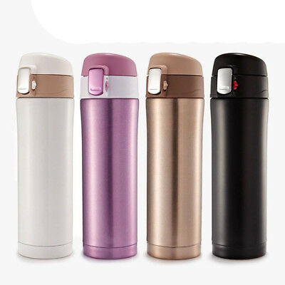 500ml Stainless Steel Vacuum Cup Thermos Flask Travel Water Bottle Cup Mugs