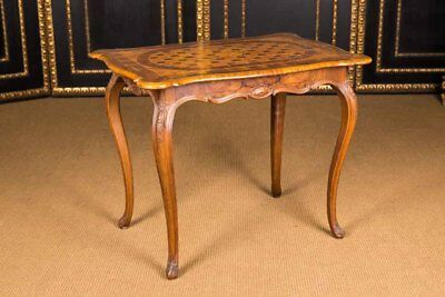 Original Antique Baroque Table with Inlaid UM 1760 Walnut