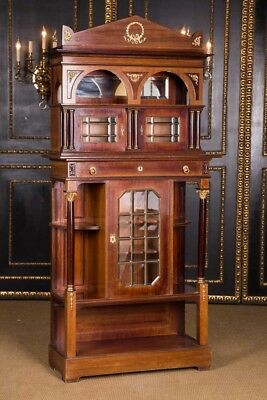 Rare Cabinet Wardrobe Cabinet in the Empire Style um 1870