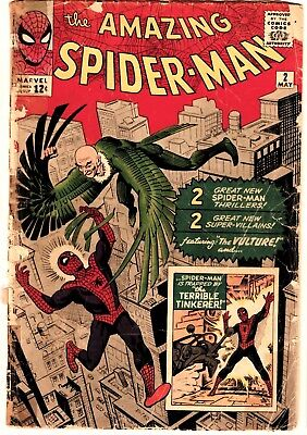 Amazing Spider-Man #2 CGC 1st Vulture and Terrible Tinkerer