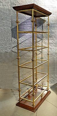 Vintage Hollywood Regency Style Five Tier Gold Metal BOOKCASE Bookshelves