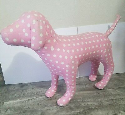 "Victoria's Secret Victoria Secret Jumbo Pink Dog Store Display 25"" Tall RARE"