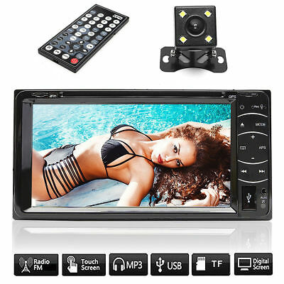 "7"" Touchscreen 2 Din Car DVD Player Radio Stereo In Dash GPS Navi USB SD + CAM"