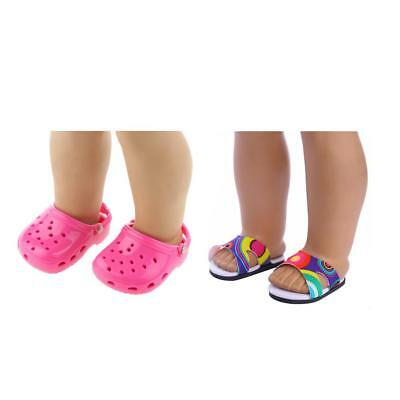 2Pair Dolls SANDALS SLIPPER SHOE for 18 AMERICAN GIRL OUR GENERATION Clothes