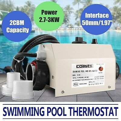 3kw Hot Tub Electric Water Heater Thermostat For Swimming Pool & Bath SPA 220V