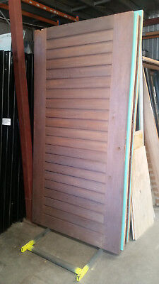 Timber Entry Door - 2340h x 1200w Solid Core w/ Pattern Both Sides *2nd Hand*