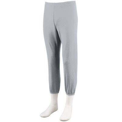 (Medium, Silver Grey) - Augusta Sportswear BOYS' PULL-UP BASEBALL PANT