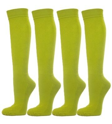 (Small, Lime Green) - Knee High Premium Quality Sports Athletic Baseball