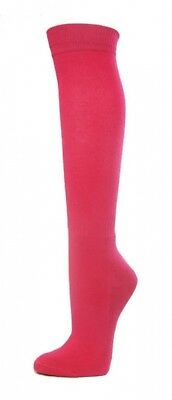 (Large, Bright Pink) - COUVER Premium Quality Knee High Sports Athletic