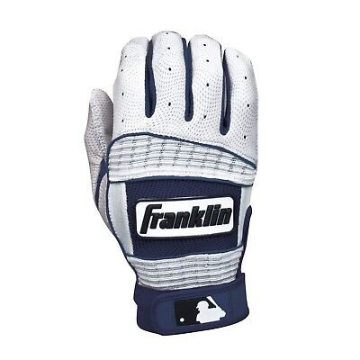 (Youth Medium, Pearl/Navy) - Franklin Sports Neo Classic Series Batting Gloves