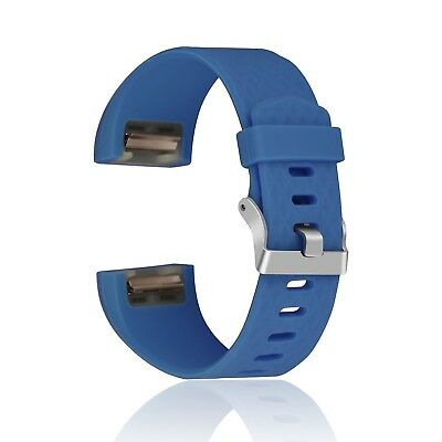 (Blue) - Charge 2 Band, Greatgo Silicone Replacement Bracelet Strap Band