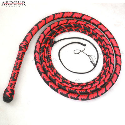 BULL WHIP 06 to 16 Feet 12 Plaits Para-cord Nylon CUSTOM BULLWHIP Belly and Bols