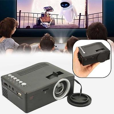 Home Cinema Theater Multimedia LED LCD Projector HD 1080P AV TV HDMI Black US FG