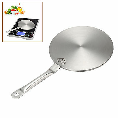 Silver Stainless Steel SIZE L S Induction Cooktop Converter Disk Plate Cookware