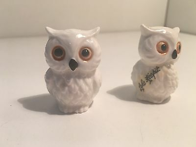 Retro Vintage Collectable Owls Lake Keepit Bird Pepper Shakers