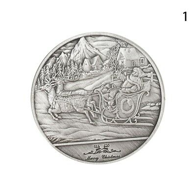 2017 Christmas Sled Coin Commemorative Coin Collection Xmas Gifts