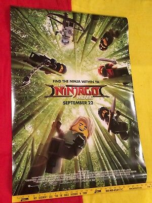 """The Lego Ninjago Movie poster DS 27""""x40"""" Brand New, Jackie Chan, 100% Authentic"""
