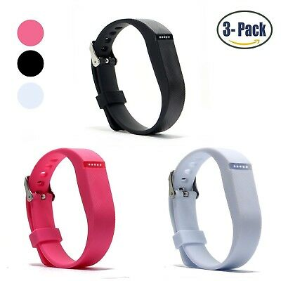 (Buckle Design-Black+Pink+White) - Hotodeal Replacement Bands for Fitbit Flex,