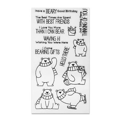 Cute Bears Clear Stamps for DIY Scrapbooking Decor Card Marking Supplies Craft