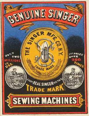 Genuine singer sewing machines retro vintage style metal wall plaque sign