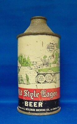 Old Style Lager cone top beer can