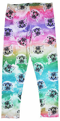 Cats in Space Galaxy Girls Stretch Leggings