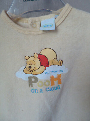 DISNEY 3 mois pyjama mixte velours jaune winnie TBE