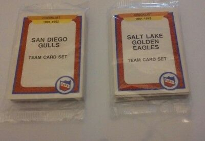 NHL TEAM CARD SET 2 SEALED Packs 1991 Vintage Trading Cards SAN DIEGO SALT LAKE