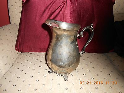 """Vintage F.B. Rogers Silver Plated 9in.X5in. Water Pitcher --""""1970`s"""