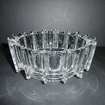 SUPERB Vintage SKLO UNION (Rudolfova Hut) 'Iceberg' BOWL By Rudolf Jurnikl c1970
