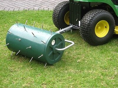 Lawn Turf Aerator 60L Tow Behind Tow Attachment Spikes Grass Roller