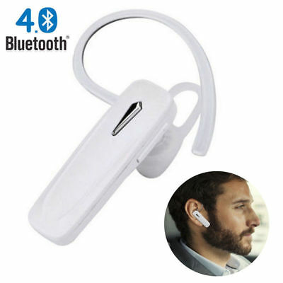 4.1 White For Universal Bluetooth Wireless Handsfree Earpiece Headset Music