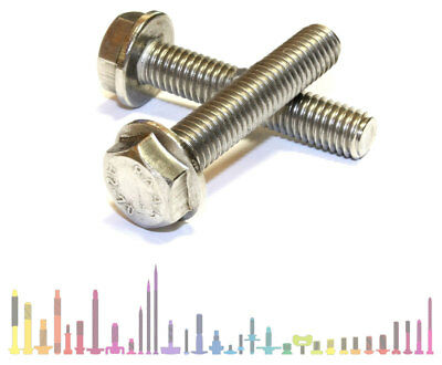 M8 Stainless Steel Fully Threaded Flanged Hexagon Screws