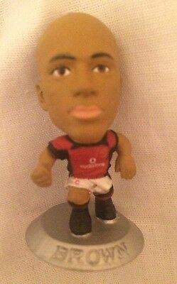 Wes Brown  Manchester United Football Club Corinthian Microstar Silver Base