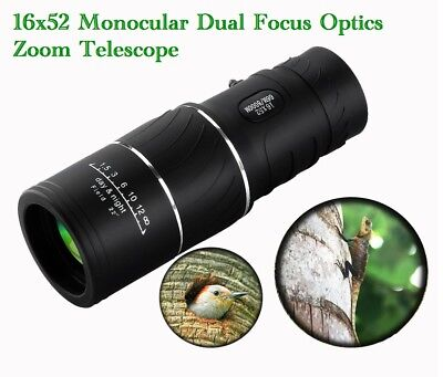 ARCHEER 16x52 Monocular Dual Focus Optics Zoom Telescope Binoculars Night Vision
