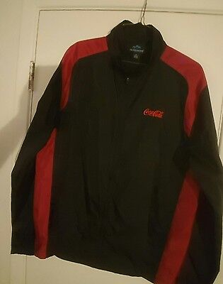 Coca Cola windbreaker size adult medium.
