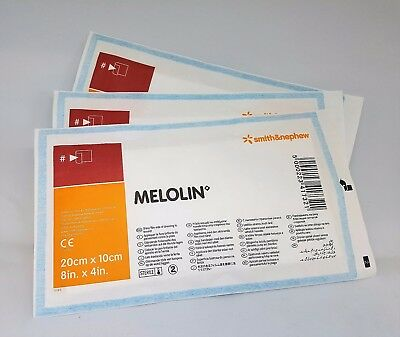 Melolin Dressing - 10cm x 20cm x 1 UK SELLER WOUND CARE FIRST AID NON ADHESIVE