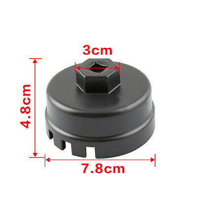 64MM 14Flute Oil Filter Cap Wrench Remover Tool Fit Toyota Corolla Sequoia Lexus