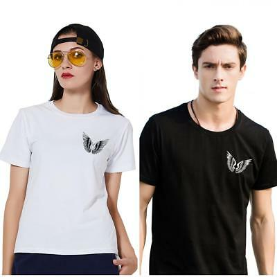 KD_ Wing Unisex Summer T-Shirt Casual Short Sleeve O-Neck Cotton Top Tee Salab