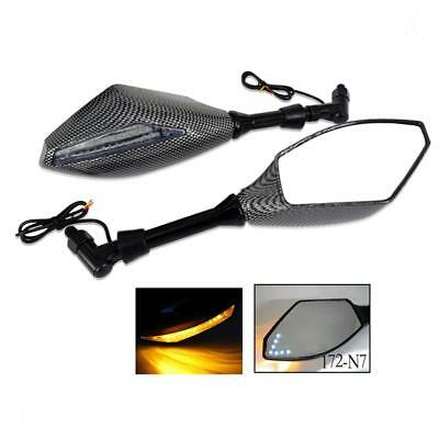 Motorcycle Racing Rearview Side Mirrors with LED Turn Signal TQ 172-N7