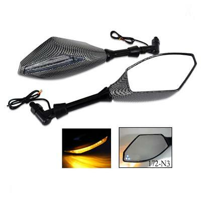 Motorcycle Racing Rearview Side Mirrors with LED Turn Signal TQ 172-N3