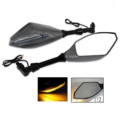 Motorcycle Racing Rearview Side Mirrors with LED Turn Signal TQ 172