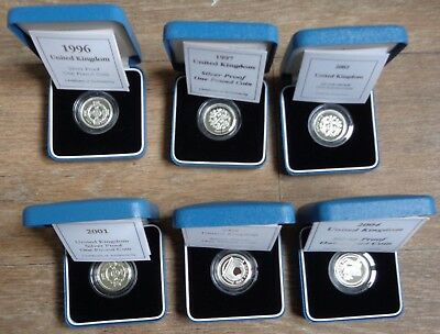 1983-2015 £1 Silver Proof Box and COA - Choose Your Year
