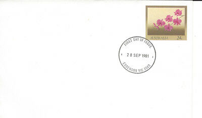 Australian Decimal Stamps: 1981 FDC Flowers Cooktown Orchid MUH