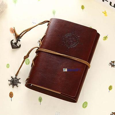 Vintage Classic Retro Leather Journal Travel Notepad Notebook Blank Diary FC