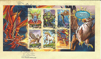 Australian Decimal Stamps: 2011 FDC Mythical Creatures MUH