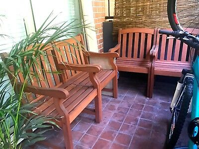 Set of 4 outdoor armchairs