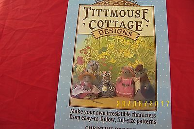 tittmouse cottage designs fabric sewing mouse mice toys soft dolls book
