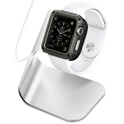 Apple Watch Stand Charger  Aluminum Body Watch Series 3 2 1 Silver